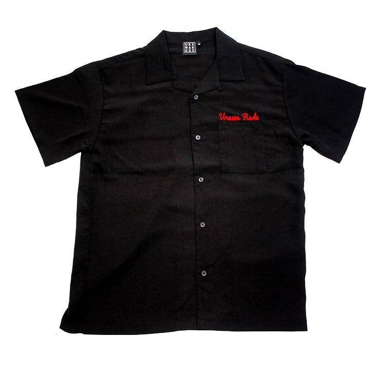 19オープンシャツ(チェーン刺繍)BLACK