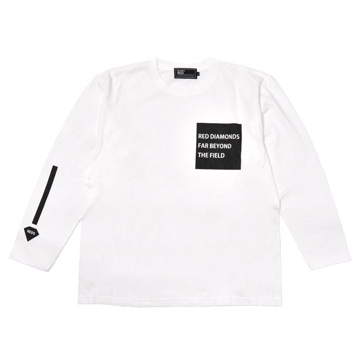 19ロングTシャツ(スリーラインロゴ)白