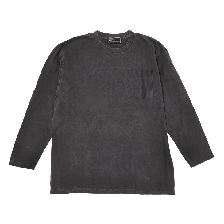 19ロングTシャツ(スリーラインロゴ)黒