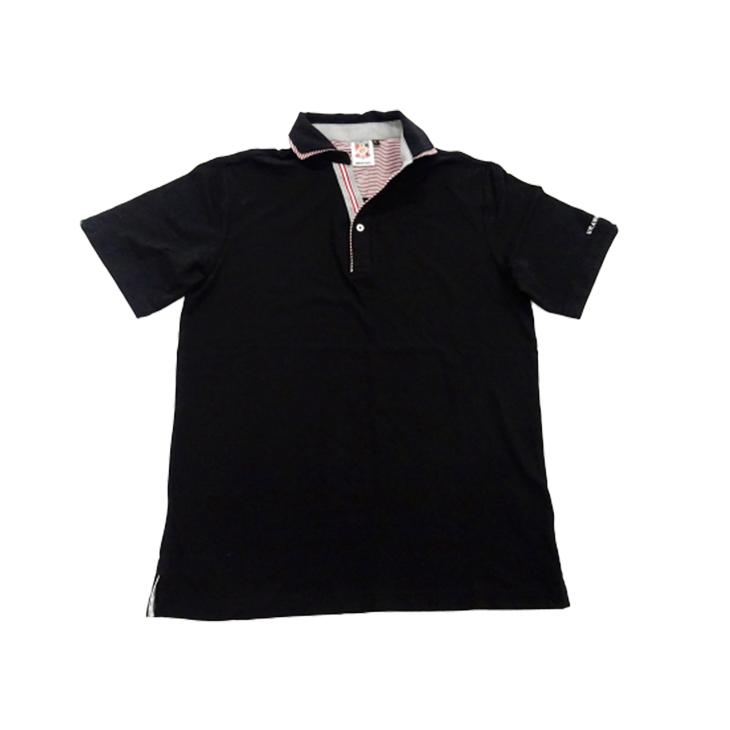 シャツフェイクポロシャツ(黒)
