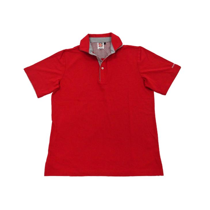 シャツフェイクポロシャツ(赤)