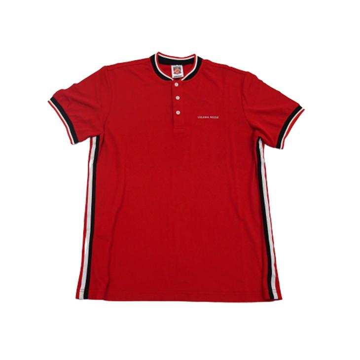 ラインポロシャツ(赤)